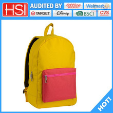 2015 wholesale factory price polyester 600d fabric child school bag for high class student