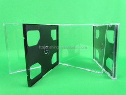 Top quality PS Clear CD Jewel cases wholesale price with plastic tray