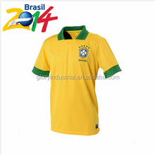 Brazil Soccer World Cup 2014 quick dry fit sport polo shirt man