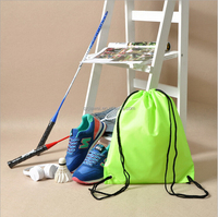 Hot sale fancy cheap durable waterproof nylon drawstring gym bags for sports shoes
