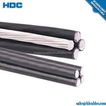 service drop cable Artemia aluminum alloy messager conductor XLPE sheath