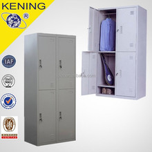 cheap steel 4 door wardrobe/metal clothes storage cabinet