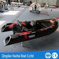 RIB390C 3.9m inflatable rigid double deep v hull fiberglass fishing boat