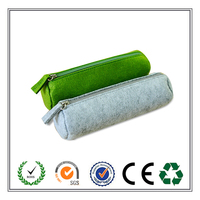 2015 Best Sell Customized Concise Design Eco-friendly Felt Pen Bag With High Quality Zipper
