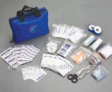 CE 17 component blue color medical travel first aid kit