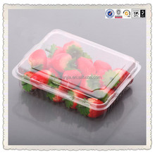 Transparent disposalbe plastic fruit/cherry/strawberry container