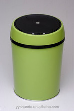 trash can pen holder easy open can lid 3 compartment recycle bin