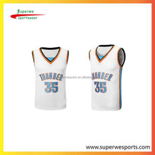 American clothing for basketball jersey with custom print exercise uniforms basketball tops with cool and breathable material