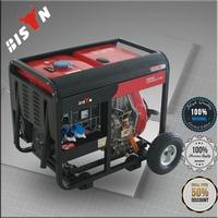 BISON CHINA TaiZhou AC Single Phase 5.5kva Good Sale Air Cooler Diesel Generator Set