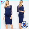 Yihao new Design Wholesale Women Maternity Exclusive long sleeve Dress pencil maternity dress 2016