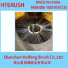Black bristle wire cleaning road brush