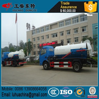 Mini RHD Dongfeng Vacuum Suction Sewage Truck 3000Litres to 5000Litres For Sales