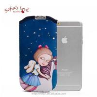 Sofia's Love neoprene cellphone pouch phone bag sleeve case for iphone 6