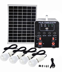 Moge 500w portable solar home power lighting kit with standard configuration