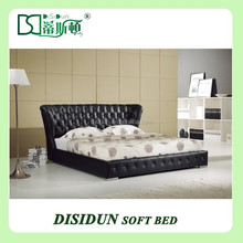 furniture leather bedroom king bed leather bed frame with headboard