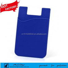 Eco-friendly silicone phone case card holder adhesive smart wallet