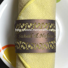 "A Great Variety Of Models Wedding Favors and Gifts! Laser Cut ""Filigree"" Napkin Rings From Mery Crafts"