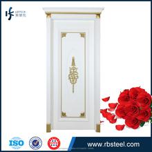 Venta caliente del último diseño puertas de madera de color blanco puertas interiores de madera