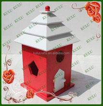 eco-friendly decorative printed small wooden bird house