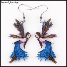 Newei 2015 Top Selling Jewelry Plastic Dangle Earrings Acrylic Angel Drop Earrings For Girl Women