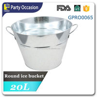 large volume party tub with Stainless steel handle and rim