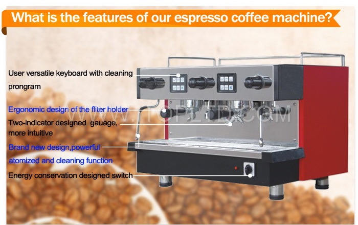 11L professional double group commercial espresso coffee machine
