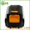 20V 1.5A Battery for Dewalt DCB180, DCB181, DCB200, DCB201, DCB201-2 For Dewalt 20V Max cordless drill