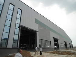 Prefabricated steel industrial warehouse with office