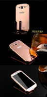 Accessory Set for Samsung Galaxy S3 I9300 Mirror Design Case Luxury Aluminum Metal Cell phone Bumper Frame