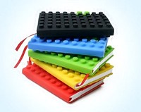 Silicone building blocks note book/A6 size note book for students/new design note book