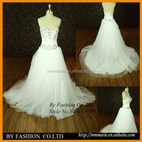 lace tulle bridal with heavy embroider bead top backless sweetheart ball gown wedding dresses pictures