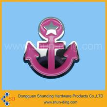 pink anchor badge label