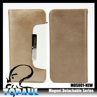 New arrival flip wallet pouch belt leather bag case for iphone 5 mobile accessory