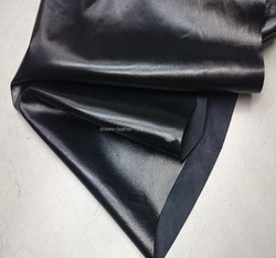 China low cost real sheep skin black color for jacket