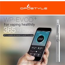 Patented Bluetooth electronic cigarette WP-EVOD Plus ce rohs sgs electronic cigarette korea