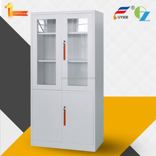 4 Swing steel & glass door china supplier steel luxury design strong material metal file cupboard with adjustable shelf