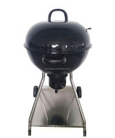 Free Standing 22-Inch Kettle Grill Convenient Outdoor Barbecue Charcoal Grill