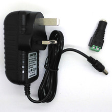 CE FCC DC 12V 2A 24W Universal Regulated Switching transformer for 3528 5050 LED Strip Power Supply Adapter