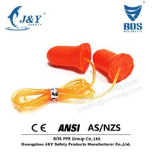 protective ear cover, CE ANSI approved disposable foam earplug, earplugs with cord