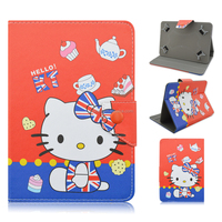 Stand Case Cover for iPad Mini Hello Kitty Themed Soft PU Leatehr Cover Skin