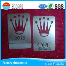 Fashional promotion gift stainless steel metal card manufacturer