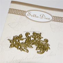 Personalized die cut plates for scrapbooking