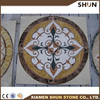 marble tile floor medallion with waterjet,round marble waterjet medallionr