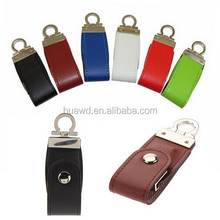 alibaba express Embossed Customer leather usb flash drive,different color with press printing