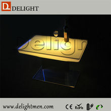 China supplier plastic 16 color changing rechargeable hot sale led cocktails table made in china
