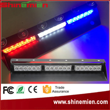 Red White Blue 12V Police Vehicle LED Visor Strobe Flash Emergency Warning lights led dash