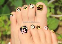 PA030 Toenails sticker 3d nail sticker golden korea toennails sticker toenails polish sticker