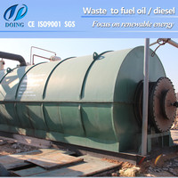 Fully Automatic plastic recycling machinery for waste plastic to fuel oil made in China
