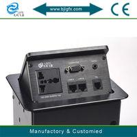 Multi-function pop up 3 pin socket electric plug panel socket