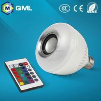 RGB wireless bluetooth smart music speaker lamp audio speaker LED light bulb